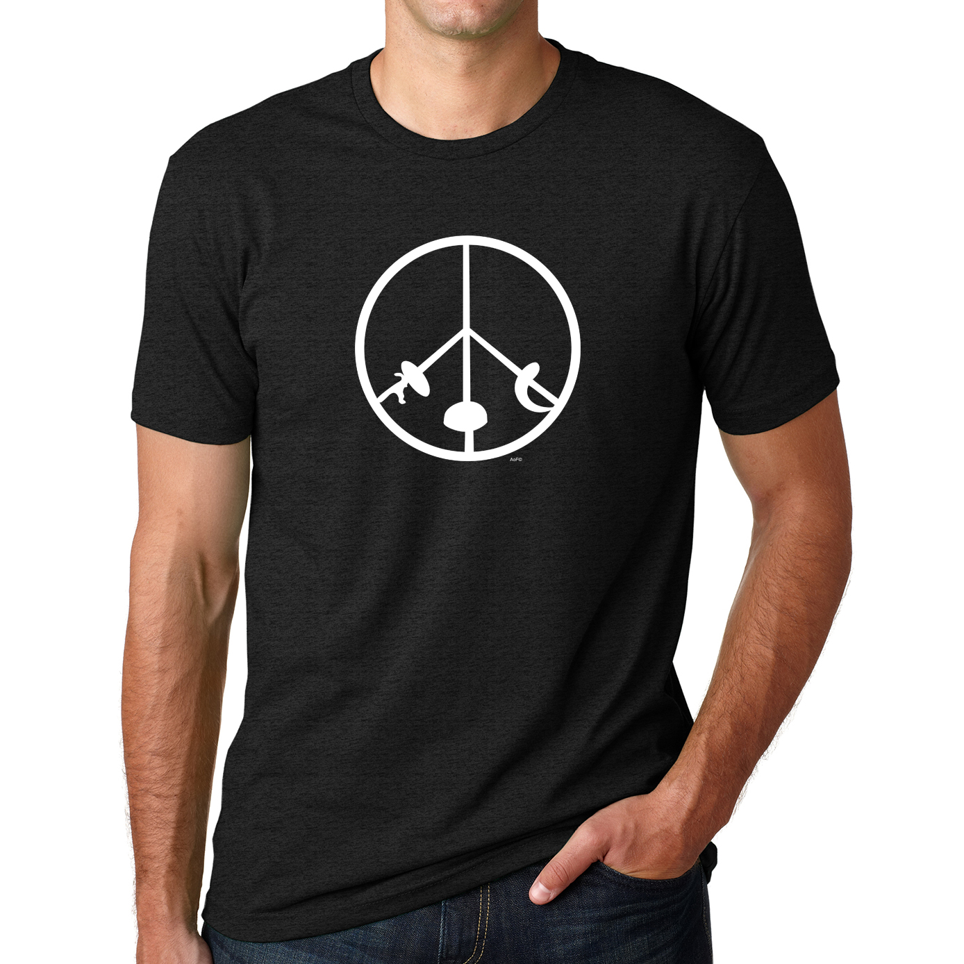 Fencing Peace Sign T Shirt
