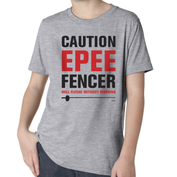 Caution-Epee-YOUTH-heather-gray