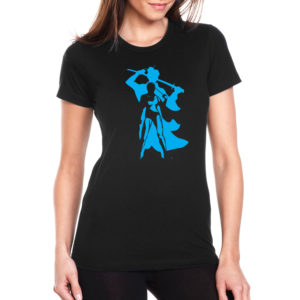 Female-Samurai-on-Womens-tshirt